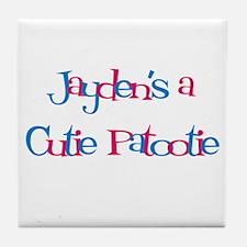 Jayden's a Cutie Patootie Tile Coaster