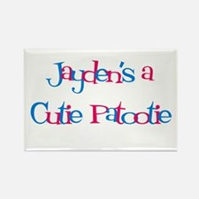 Jayden's a Cutie Patootie Rectangle Magnet (10 pa