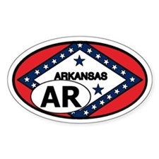 Arkansas State Flag Oval Decal