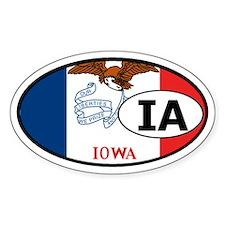 Iowa State Flag Oval Decal