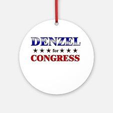 DENZEL for congress Ornament (Round)