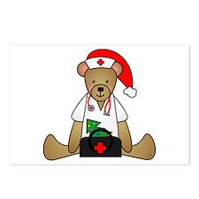 Christmas Nurse Bear Postcards (Package of 8)