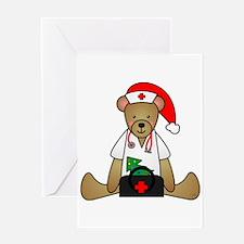 Christmas Nurse Bear Greeting Card