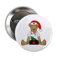 """Christmas Nurse Bear 2.25"""" Button"""