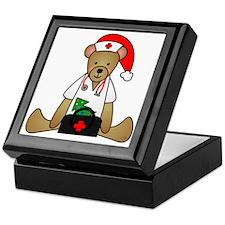 Christmas Nurse Bear Keepsake Box