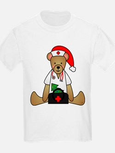 Christmas Nurse Bear T-Shirt