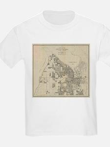 Vintage Map of Tacoma Washington (1907) T-Shirt