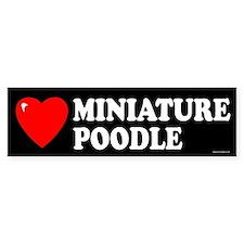 MINIATURE POODLE Bumper Bumper Sticker