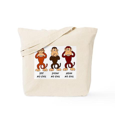 See Speak Hear No Evil Tote Bag