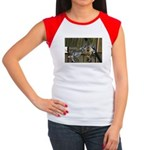 Giraffe Baby Mama Kiss Junior's Cap Sleeve T-Shirt