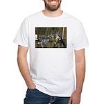 Giraffe Baby Mama Kiss White T-Shirt