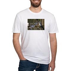 Giraffe Kiss Fitted T-Shirt