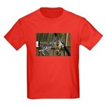 Giraffe Baby Mama Kiss Kids Dark T-Shirt
