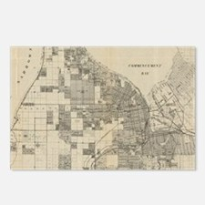 Vintage Map of Tacoma Was Postcards (Package of 8)