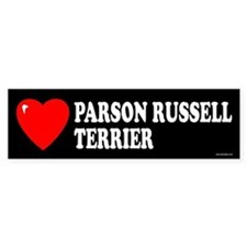 PARSON RUSSELL TERRIER Bumper Car Sticker