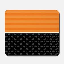 Half Stripe Bat Pattern Mousepad