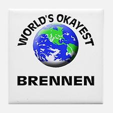 World's Okayest Brennen Tile Coaster