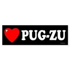 PUG-ZU Bumper Bumper Sticker