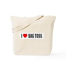 I Love Bag Toss Tote Bag