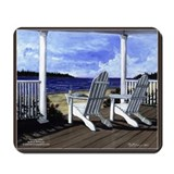 Beach scene Mouse Pads