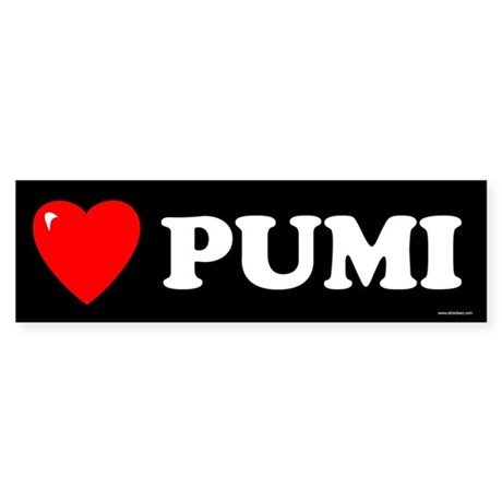 PUMI Bumper Sticker