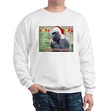 Helaine's Christmas Gorilla 2 Sweatshirt