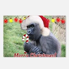 Helaine's Christmas Gorilla 2 Postcards (Package o