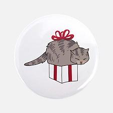 Cat In Present Button
