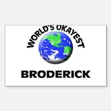 World's Okayest Broderick Decal