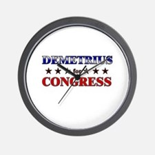 DEMETRIUS for congress Wall Clock
