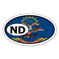 North Dakota State Flag Oval Decal