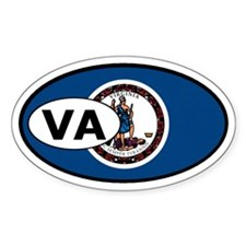 Virginia State Flag Oval Decal
