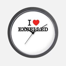 I Love EXCELLED Wall Clock