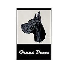 Black Great Dane Rectangle Magnet