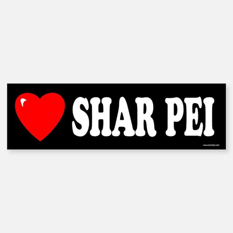 SHAR PEI Bumper Bumper Bumper Sticker