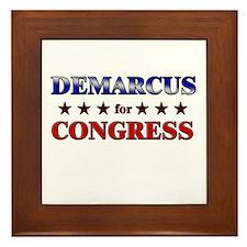 DEMARCUS for congress Framed Tile