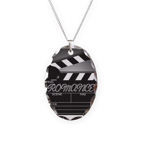 Clapper Board Romance Necklace Oval Charm