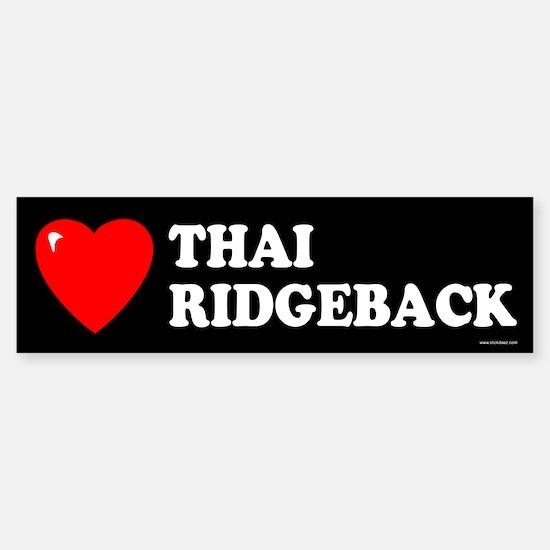 THAI RIDGEBACK Bumper Bumper Bumper Sticker