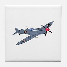 Spitfire Plane Tile Coaster