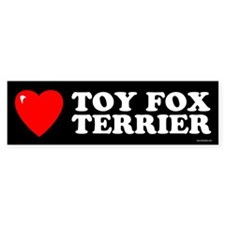 TOY FOX TERRIER Bumper Bumper Sticker