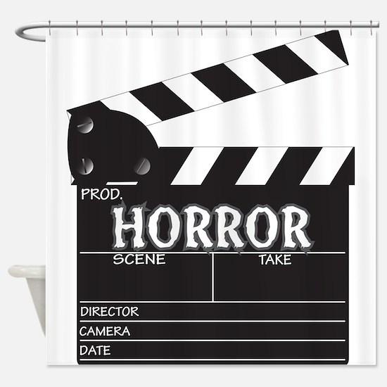 Clapper Board Horror Shower Curtain