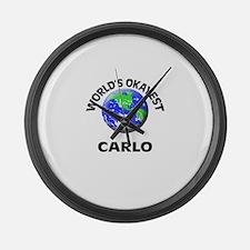 World's Okayest Carlo Large Wall Clock