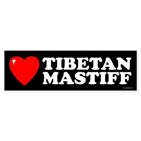 TIBETAN MASTIFF Bumper Sticker