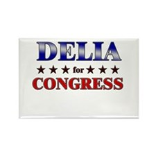 DELIA for congress Rectangle Magnet