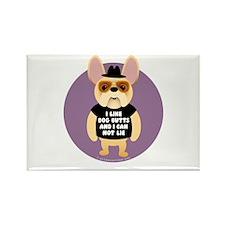 DOG BUTTS Fr. Bulldog Rectangle Magnet