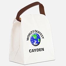 World's Okayest Cayden Canvas Lunch Bag