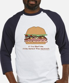 Behind This Sandwich Baseball Jersey