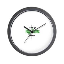 I am a Happy Festivus person! Wall Clock