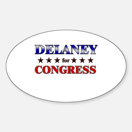 DELANEY for congress Oval Decal