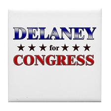 DELANEY for congress Tile Coaster